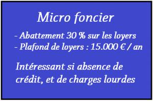 Le micro Foncier.